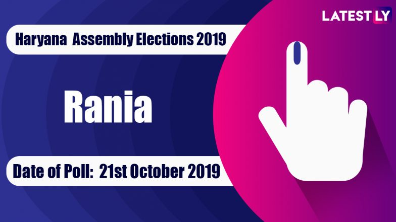 Rania Vidhan Sabha Constituency in Haryana: Sitting MLA, Candidates For Assembly Elections 2019, Results And Winners