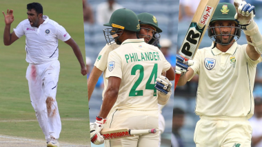India vs South Africa Stat Highlights, 2nd Test 2019, Day 3: Keshav Maharaj, Vernon Philander Save South Africa's Face; Ravi Ashwin Reaches Personal Milestone