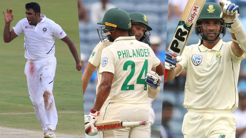 India vs South Africa Stat Highlights, 2nd Test 2019, Day 3: Keshav Maharaj, Vernon Philander Save South Africa's Face; Ravi Ashwin Reaches Personal Milestone