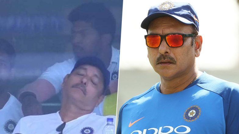 Ravi Shastri Trolled for Taking 'Power' Nap During IND vs SA 3rd Test, Twitterati Turns it Into Nightmare With Hilarious Memes on Team India Coach