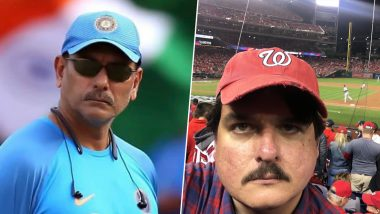 Ravi Shastri Lookalike Found Watching a Baseball Match; Indian Cricket Fans Quick to Make Jokes and Funny Memes on Head Coach (Check Tweets)