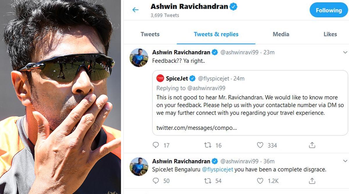 Ravichandran Ashwin Criticises Airline SpiceJet on Twitter After Vijay Hazare 2019–20 Final, Deletes Tweet Later