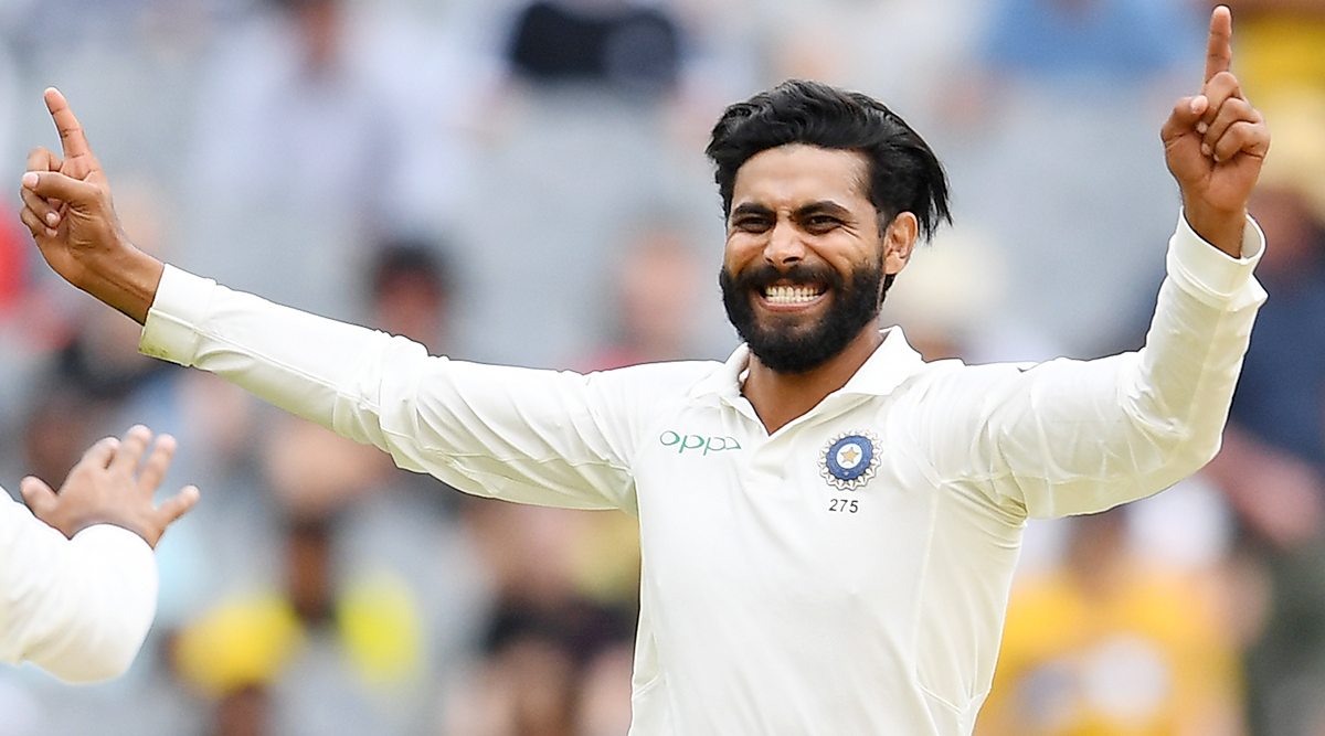 Ravindra Jadeja Becomes Second-Fastest Indian Bowler to Complete 200 Test Wickets for India; Left-Arm Spinner Dismisses Dean Elgar to Achieve Feat