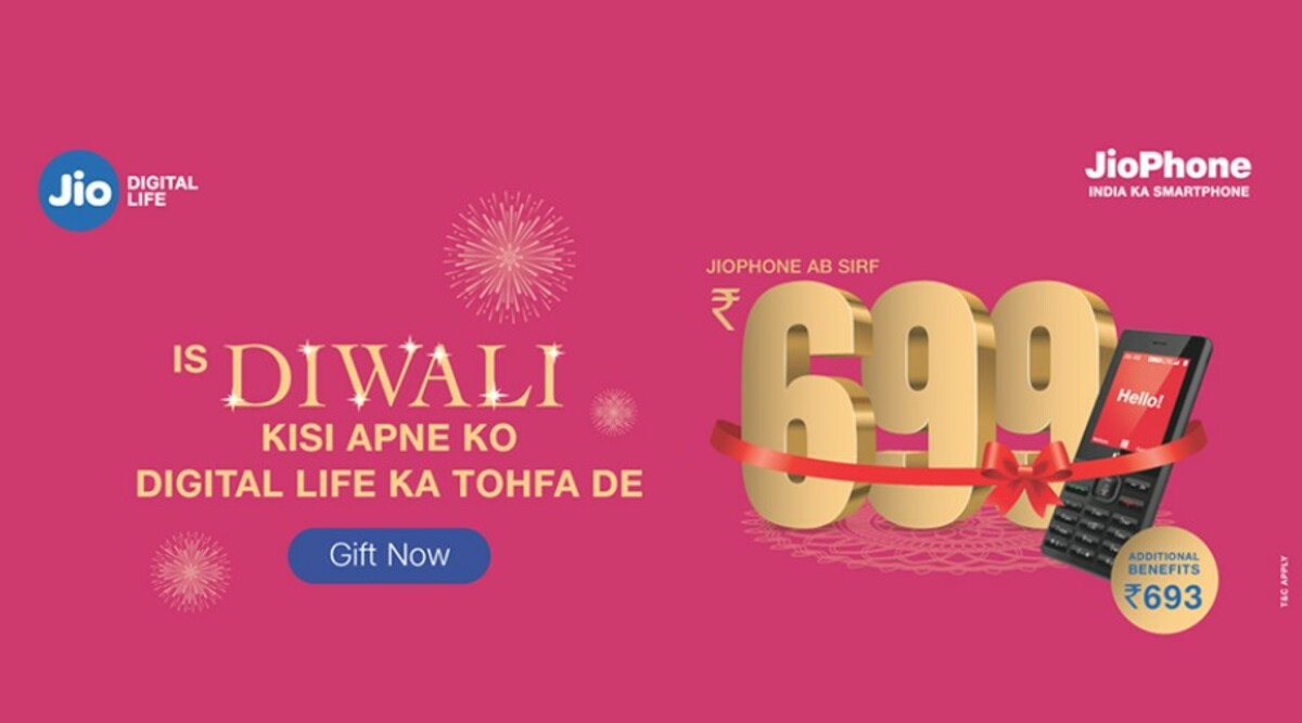 Reliance Jio Diwali 2019 Offer: JioPhone Just at Rs 699; Here's How You Can Gift 4G Phone, Check all Special Bundle Plans