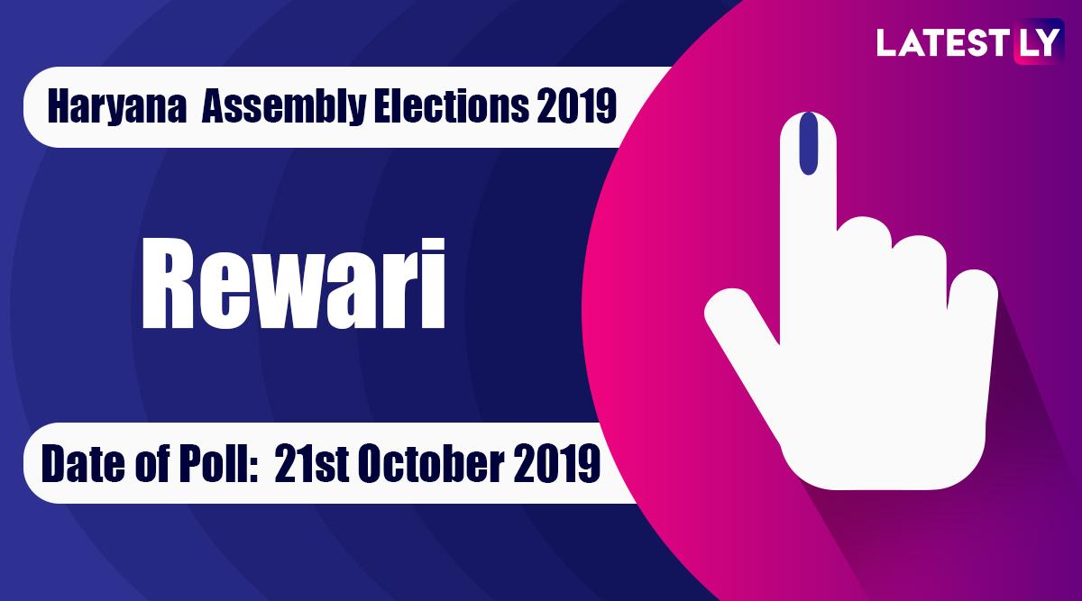 Rewari Vidhan Sabha Constituency Election Result 2019 in Haryana: Chiranjeev Rao of Congress Wins MLA Seat in Assembly Polls