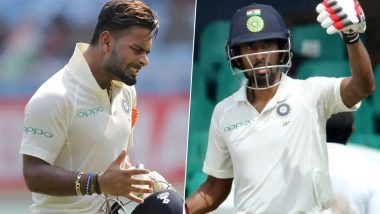Rishabh Pant Replaces Wriddhiman Saha As Wicket-Keeper After Latter Gets Injured by R Ashwin's Delivery During India vs South Africa 3rd Test