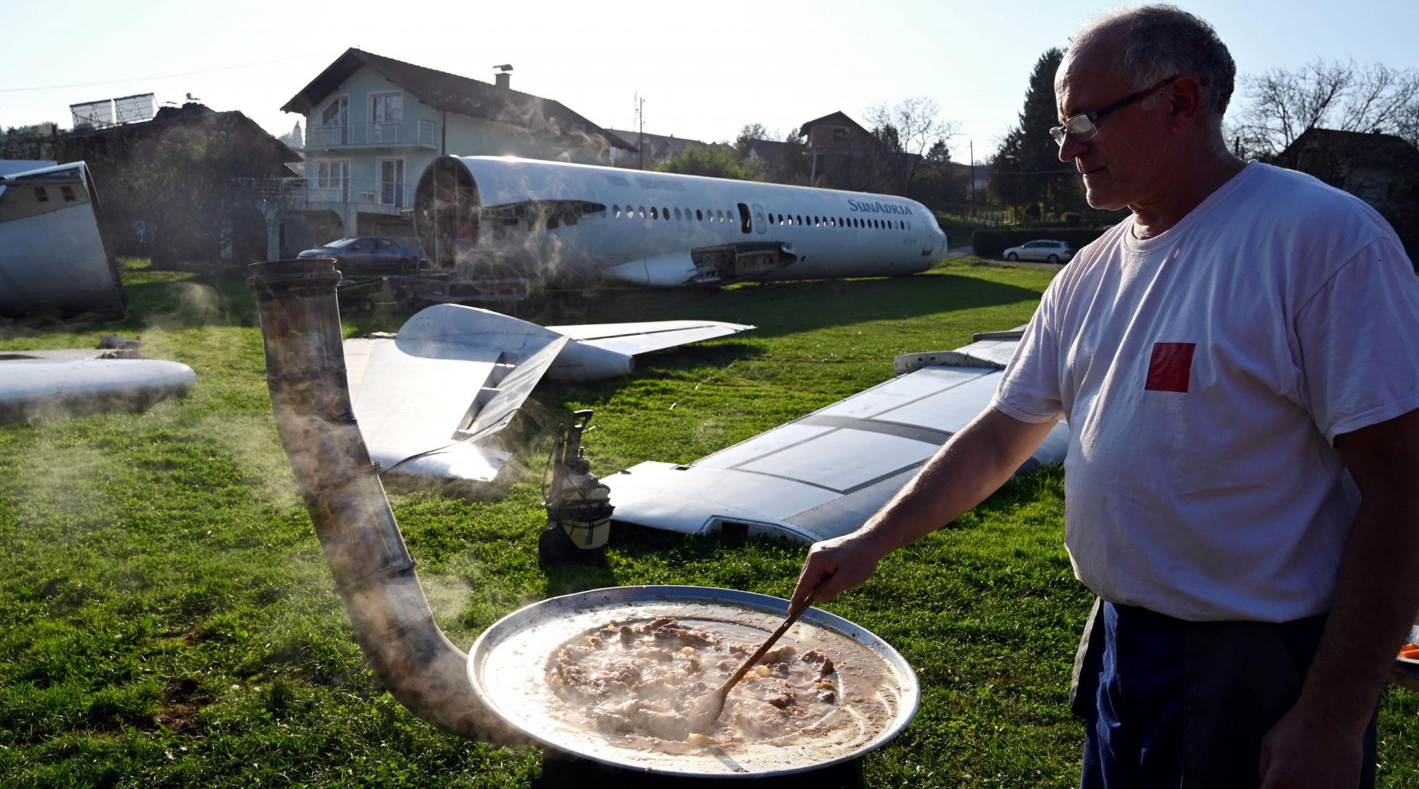 Plane Enthusiast Turns Garden Into Site for Plane Parties in Croatia