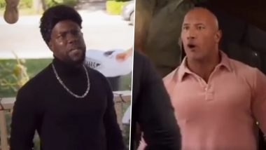 Jumanji: The Next Level Stars Dwayne Johnson and Kevin Hart's Halloween Face-Off Is a Laugh Riot (Watch Video)