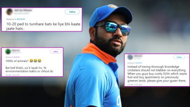Rohit Sharma Trolled for Opposing Aarey Tree Cutting For Metro Project, Twitterati Ask Indian Opener to Concentrate on Cricket!