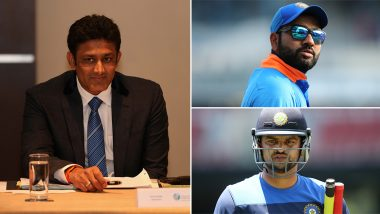 Rohit Sharma and Suresh Raina Wish Anil Kumble on His 49th Birthday, Post Sweet Messages For Jumbo! (View Post and Pic)