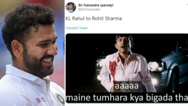 Rohit Sharma Funny Memes Taking Dig at KL Rahul Goes Viral Thanks to Indian Opener's Brilliant Batting in IND vs SA 1st Test Match 2019