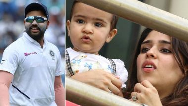 Rohit Sharma's Daughter Samaira Steals The Show as The Cute Toddler Cheers For Dad During India vs South Africa 4th Test 2019 (View Pic)