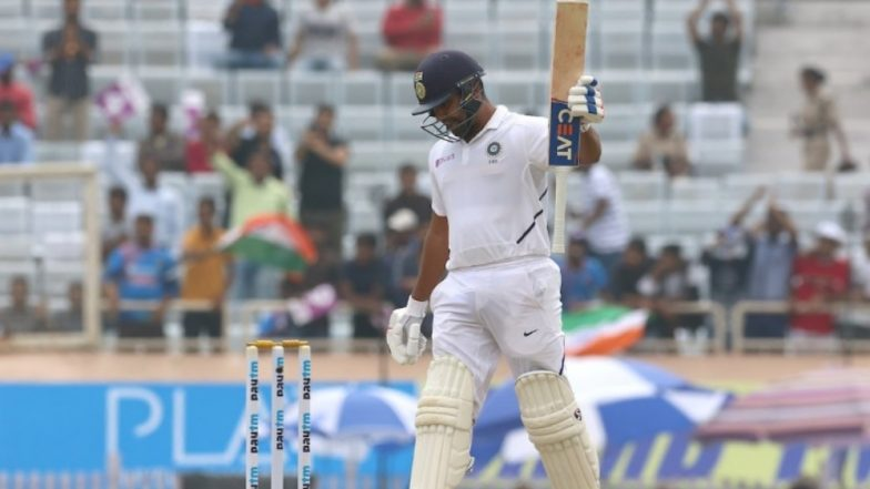 Rohit Sharma Shouts 'Not Now' to Rain Gods Right Before Bringing Up His Sixth Century During IND vs SA, 3rd Test 2019! Here's How Twitterati Reacted to This Video
