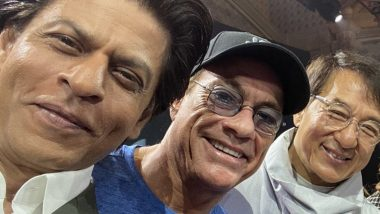 Shah Rukh Khan, Jean-Claude Van Damme and Jackie Chan in One Frame at the Joy Forum 2019 Is Sunday Done Right! (View Pics)
