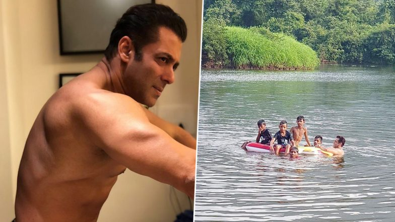 Salman Khan Taking a Dip in a River With a Bunch of Kids Is the Cutest Thing You'll See on the Internet Today! (View Pics)
