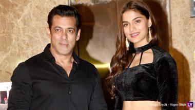 Salman Khan and His Dabangg 3 Co-Star Saiee Manjrekar Twin in Black at Ramesh Taurani's Diwali 2019 Party (View Pics)
