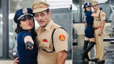 Dabangg 3: Preity Zinta Turns Into a Sexy Cop For Halloween, Celebrates it With 'Chulbul' Salman Khan on Dabangg 3 Sets (View Pics)