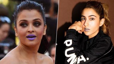 Move Over Aishwarya Rai's Purple Lips As Sara Ali Khan's Silver Lips Are Here to Do All the Talking (See Pics)