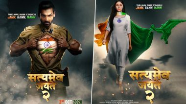 Satyamev Jayate 2 Posters: John Abraham and Divya Khosla Kumar Show Their Patriotism By Proudly Flaunting the Tricolour (See Pics)