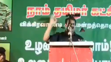 NTK Leader Seeman Says 'Yes, We Killed Rajiv Gandhi', Booked For Glorifying Former PM's Assassination