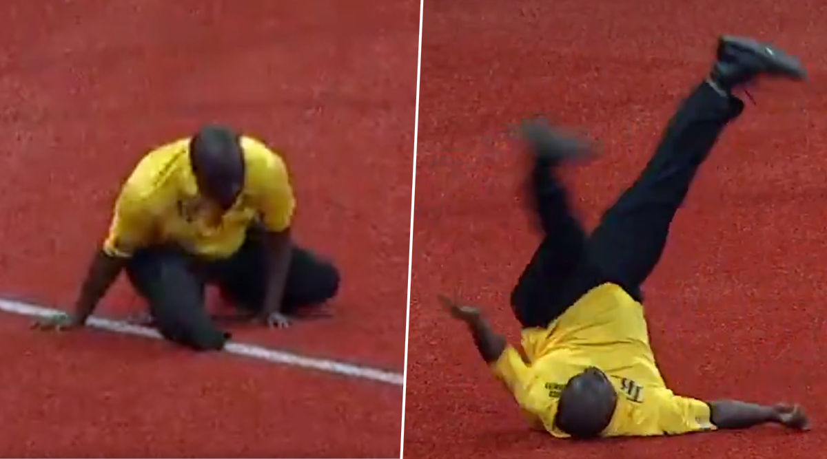 Video of Security Guard Dancing in Houston Astros Vs Tampa Bay Rays in ALDS Game 4 Reminds People of His Previous Dance Face-Off (Watch Viral Videos)