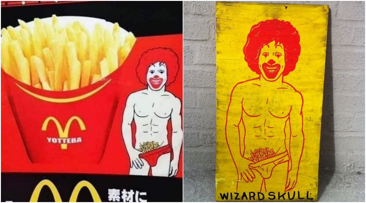 Ronald McDonald's Gets Racy Makeover in Japan! Holds French Fries in His Underwear as Pubic Hair For Yotteba Ad, But Twitterati Isn't Impressed