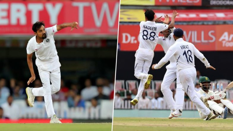 Shahbaz Nadeem Fourth Indian Bowler to Bag Maiden Test Wicket Through Stumping, Achieves Feat During 3rd IND vs SA Test Match