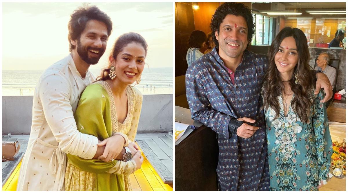 Shahid Kapoor-Mira Rajput, Farhan Akhtar-Shibani Dandekar Celebrate a Mushy Diwali! (View Pics)
