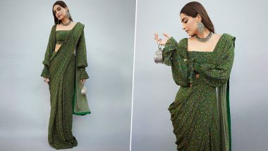 Yo or Hell No? Sonam Kapoor's Floral Saree by Masaba Gupta