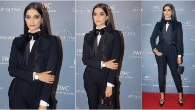 Yo or Hell No? Sonam Kapoor in a Crisp Black Ralph Lauren Suit