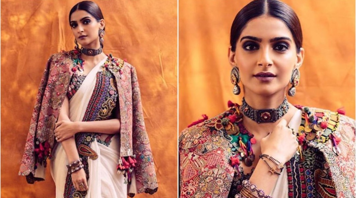 Office Diwali Party 2019 Outfit Idea: Sonam Kapoor's Rendition Of A Saree With A Hipster Jacket Is A Dope Look To Try This Season!