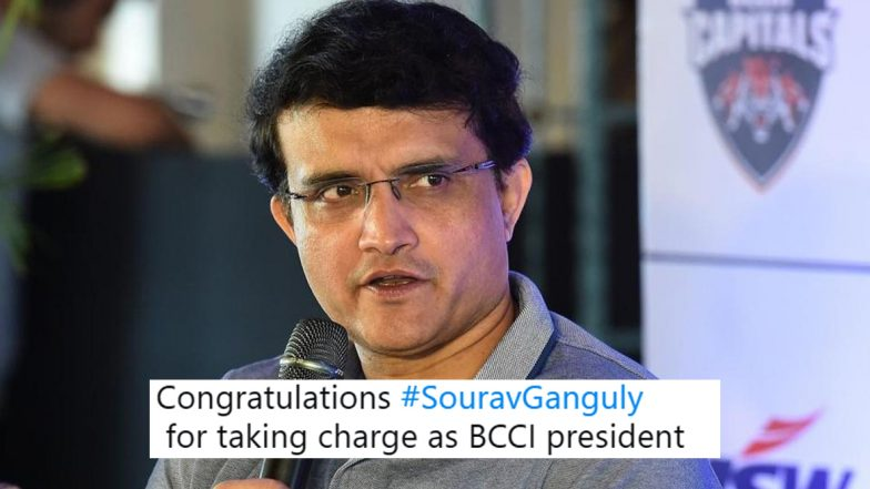 Sourav Ganguly Top Trend on Twitter After Taking Over As 39th BCCI President, Netizens Flood Social Media With Congratulatory Wishes