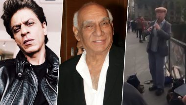 Shah Rukh Khan Reminisces Yash Chopra As He Spots a Musician Singing an Iconic DDLJ Song on the Streets of Paris (Watch Video)