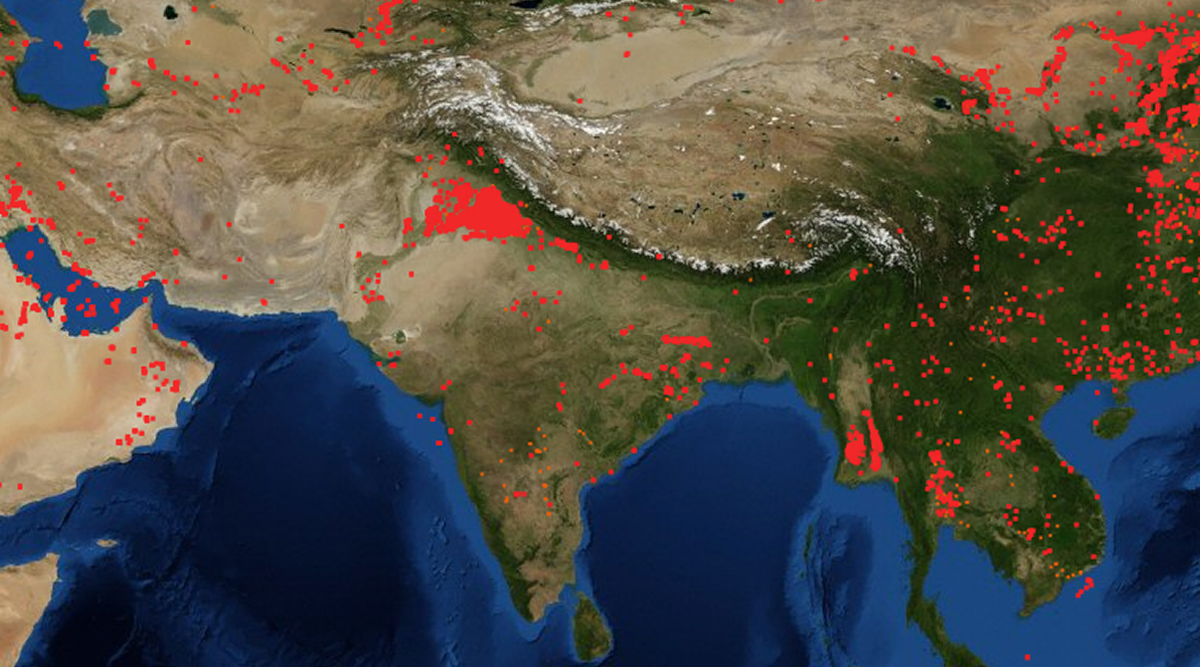Air Quality Deteriorates in Delhi: NASA Satellite Image Shows Stubble Burning in Punjab And Haryana, Fire Map Indicates Alarming Situation