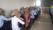 Karnataka College Makes Students Write Exam With Face Covered in Cardboard Boxes to Prevent Cheating, Notice Issued to College