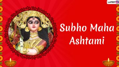 Subho Durga Ashtami 2019 Wishes: Maha Ashtami WhatsApp Stickers, GIF Images, Facebook Quotes and SMS to Send Greetings on Third Day of Durga Puja