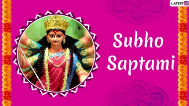 Subho Maha Saptami 2020 Wishes & HD Images: WhatsApp Stickers, Maa Durga HD Photos, GIF Greetings, Messages and SMS to Send During Durga Puja