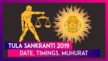 Tula Sankranti 2019: Date, Timings, Shubh Muhurat & Significance Of The Festival