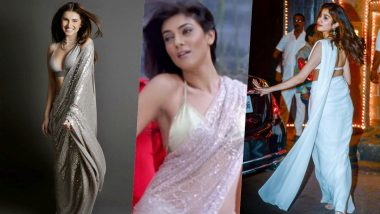 Tara Sutaria and Janhvi Kapoor Channelise Main Hoon Na's Sushmita Sen In Sexy Manish Malhotra Sarees (View Pics)