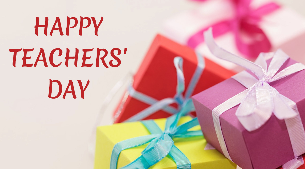 World Teachers' Day 2019: Gift Ideas to Surprise Your Mentor And Make Them Feel Special!