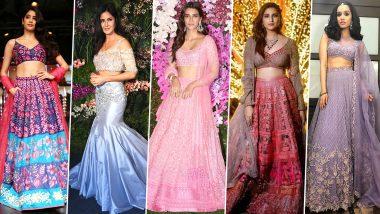 Diwali 2019: Janhvi Kapoor, Katrina Kaif's Lehenga Designs are Perfect to Flaunt this Festive Season (View Pics)
