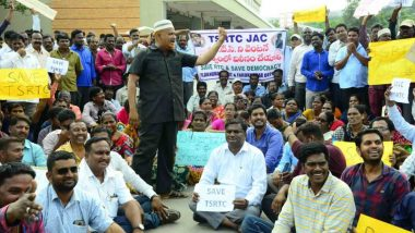 Telangana RTC Strike: JAC Offers to Call Off 47-Day Agitation, Wants KCR Govt to Re-Employ Suspended Bus Drivers, Staff Members