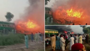 Tezgam Express Fire: 46 Charred to Death in Blaze at Karachi-Rawalpindi Train in Pakistan