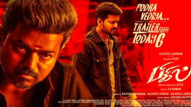 Bigil Makers Release New Poster Featuring Thalapathy Vijay Ahead of Trailer Launch