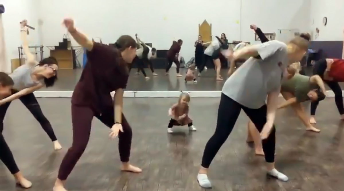 Baby Takes Over Fitness Class and Becomes the World's Shortest Instructor! (Watch the Cute Video)