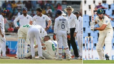 Theunis de Bruyn Becomes First Concussion Substitute for South Africa, Replaces Injured Dean Elgar in the 3rd IND vs SA Test 2019