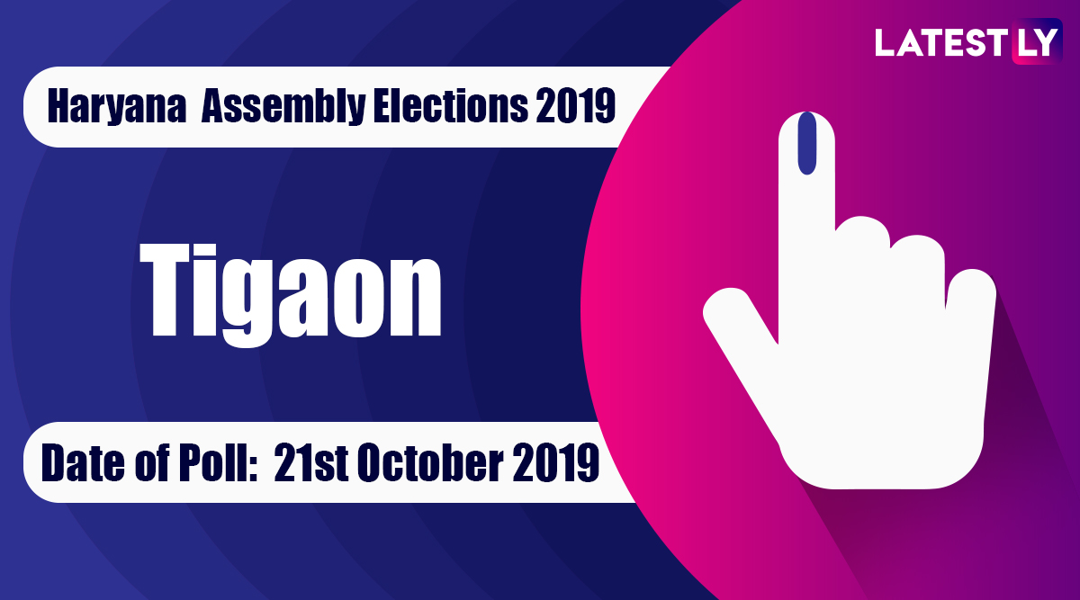 Tigaon Vidhan Sabha Constituency Election Result 2019 in Haryana: Rajesh Nagar of BJP Wins MLA Seat in Assembly Polls