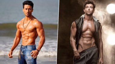 War Actors Hrithik Roshan & Tiger Shroff Workout; How Student of the Year 2 Star Follows in the Footstep of His Idol (View Pics & Videos)