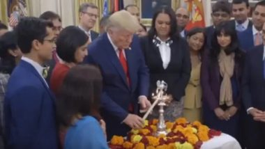 Diwali 2019: Donald Trump and Melania Extend Wishes, Commence Celebration in White House by Lighting Diyas; Watch Video