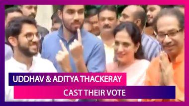 Maharashtra Assembly Polls: Shiv Sena Chief Uddhav Thackeray, Son Aditya Cast Vote